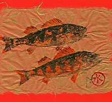 Gyotaku - Yellow Perch - Orange Roughy by IslandFishPrint