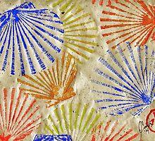 Gyotaku Scallops - Bivalvify - Seafood Melody by IslandFishPrint