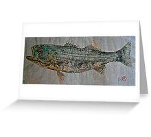 Gyotaku - Striped Bass - Rock Fish - Striper Greeting Card