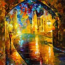 UNDER THE BRIDGE by Leonid  Afremov