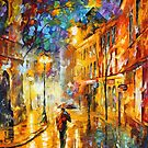 IN THE MIDDLE OF THE STREET by Leonid  Afremov