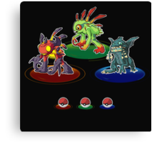 Choose your starter! Canvas Print