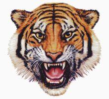 snarling tiger t-shirt design by R Christopher  Vest