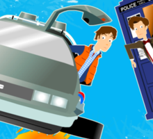 Doctor Who Back  to the Future Sticker