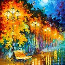 MIDNIGHT MOON by Leonid  Afremov