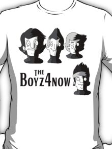 Meet The Boyz4Now! (light color options with black text) T-Shirt