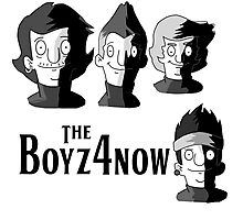 Meet The Boyz4Now! (light color options with black text) Photographic Print