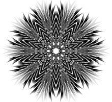 Black and White Zoom Kaleidoscope by fantasytripp