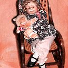 Antique Rocker with a Handmade Doll by SummerJade