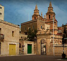 Mellieha Malta -- Lower Church Entrance (Sigma 1970 : 24mm Lens) by Edwin  Catania