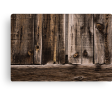 Weathered Wooden Abstracts - 2 Canvas Print