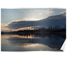 Just Before Sunset - Gray Clouds and Ripples  Poster