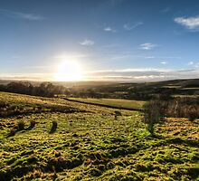 Sunset over Northumberland National Park by pixog