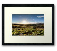 Sunset over Northumberland National Park Framed Print