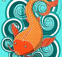 Playing Koi by SRowe Art