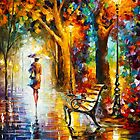 LADY IN THE RAIN by Leonid  Afremov