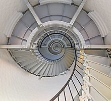Going Up - Lighthouse Interior by Kenneth Keifer