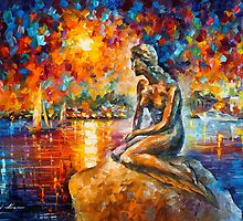 THE MERMAID OF COPENHAGEN by Leonid  Afremov