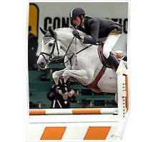Jumper In Orange Horse Portrait Poster