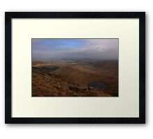 Cronloughan Lough And Owendoo Valley From Glascarns Hill Framed Print