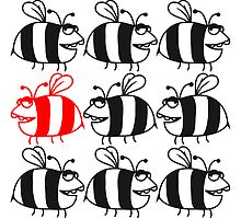 Many bees be different patterns by Style-O-Mat
