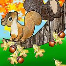 Squirrel with Acorn (2160  Views) by aldona