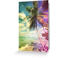 Prismatic Palm Greeting Card