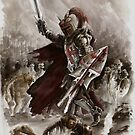 Dark Crusader Medieval Knight Templars warrior  by Mariusz Szmerdt