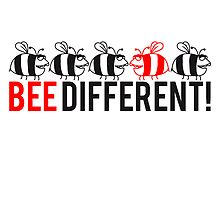 Lustiges Be Different Logo by Style-O-Mat