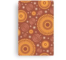 Pop! Brown & Orange Canvas Print