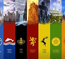 Game of Thrones factions by Kris Armitage