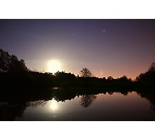 Moonlight Lake Photographic Print