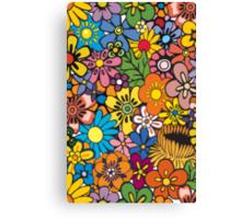 Pop Floral Surf Pattern Canvas Print