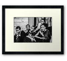 Buddha Boys Framed Print