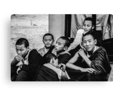 Buddha Boys Canvas Print