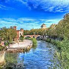Old Bridge Over the Tiber by vivsworld