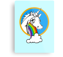 Drunk Unicorns Make Rainbows! Metal Print