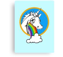 Drunk Unicorns Make Rainbows! Canvas Print