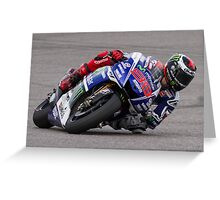 Jorge Lorenzo at Circuit Of The Americas 2014 Greeting Card