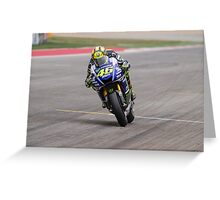 Valentino Rossi at Circuit Of The Americas 2014 Greeting Card