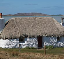 North Uist Thatched Cottage by Sandy Sutherland