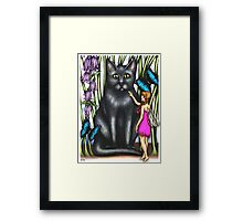 Misty and the Fairy Framed Print