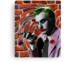The Joker + Vincent Price Mash Up Canvas Print