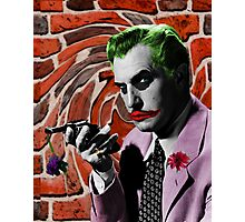 The Joker + Vincent Price Mash Up Photographic Print