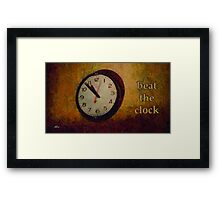 Beat the clock Framed Print