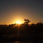 The sun rises to welcome a new day Kilmore East VIC Australia by Margaret Morgan (Watkins)