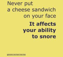 Never put a cheese sandwich on your face purple by onebaretree