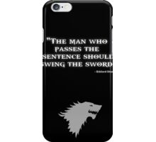 Game of Thrones - House Stark - Eddard Stark iPhone Case/Skin