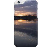 Sunset Sentinels - Three Pillars Guarding the Sundown Reflections iPhone Case/Skin