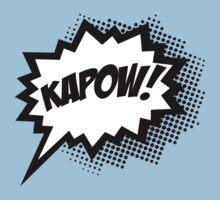 COMIC POW! Speech Bubble, Comic Book Explosion, Cartoon Kids Clothes